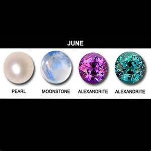 what color is june birthstone june birthstones pearl alexandrite and moonstone
