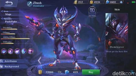 mainan mobile legend zhask baru mobile legends yang gokil