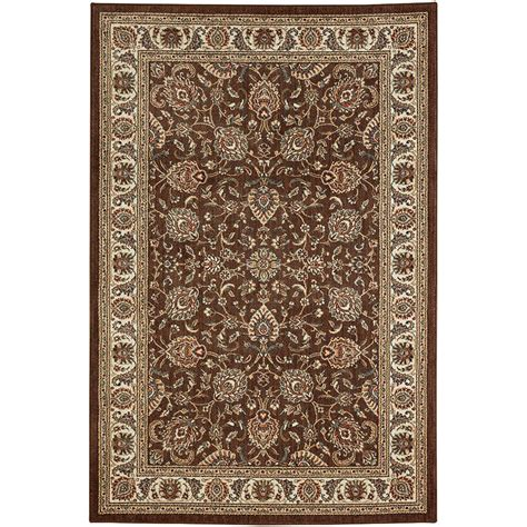 floor rugs home depot mohawk home fallon brown 5 ft 3 in x 7 ft 10 in area rug 002075 the home depot