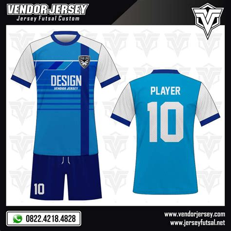 desain baju futsal biru desain baju futsal reviblue vendor jersey futsal