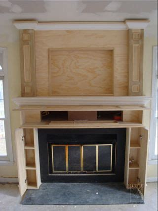 fireplace cabinetry built ins ours will storage for