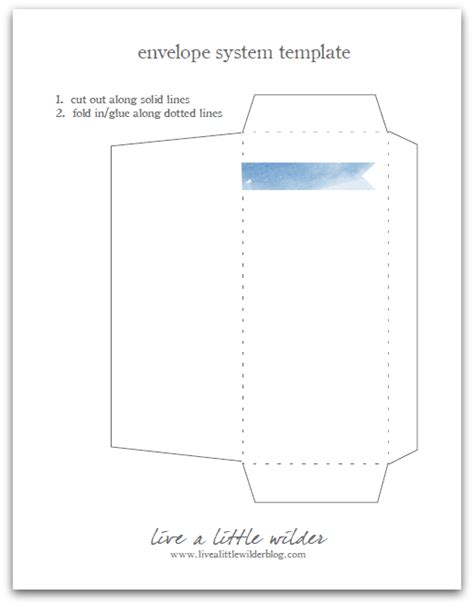 live a little wilder the envelope system a template