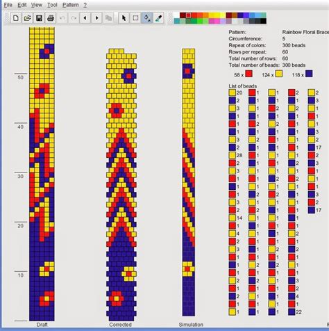 bead pattern design software this tubular spiral bead crochet bracelet was designed