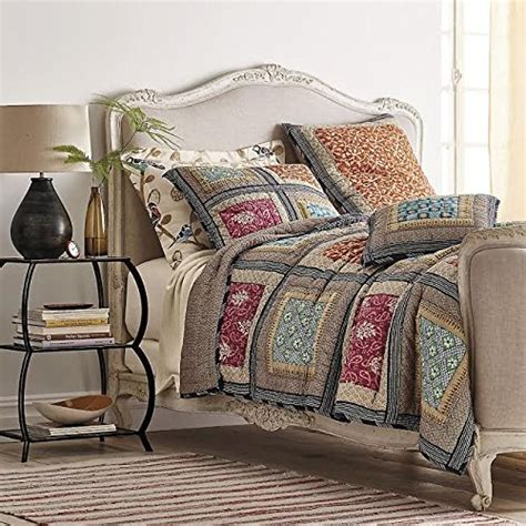 dada bedding collection reversible bohemian real patchwork gallery of roses cotton quilt
