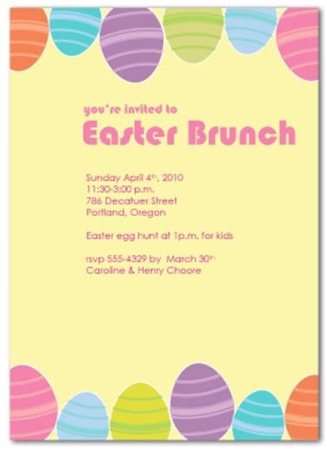 easter invitation templates printable brunch easter invitation template