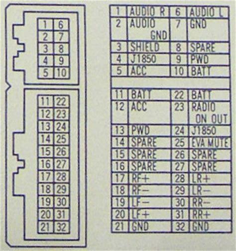 chrysler car radio stereo audio wiring diagram autoradio