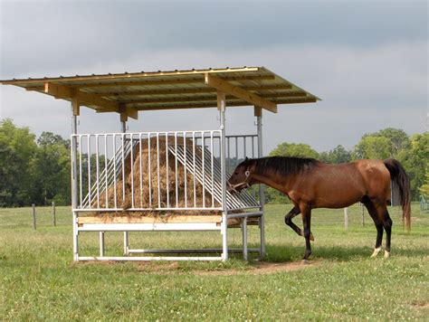 How To Make A Hay Rack For Horses by Hay Feeders Run In Shelter Kits Klene Pipe Structures