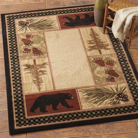 cabin themed rugs timber woods rug 8 x 10