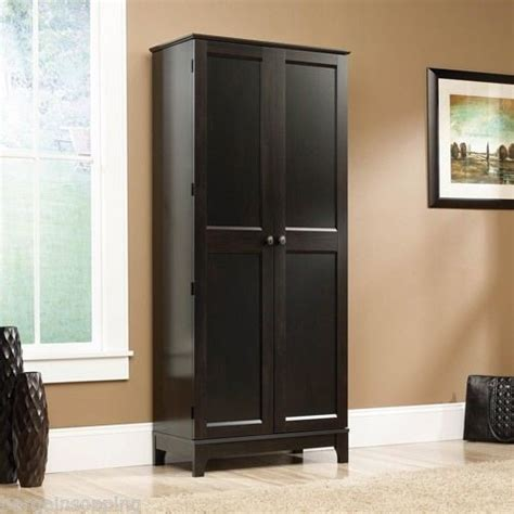 black kitchen storage cabinet new sauder tall storage clothes cabinet organizer kitchen