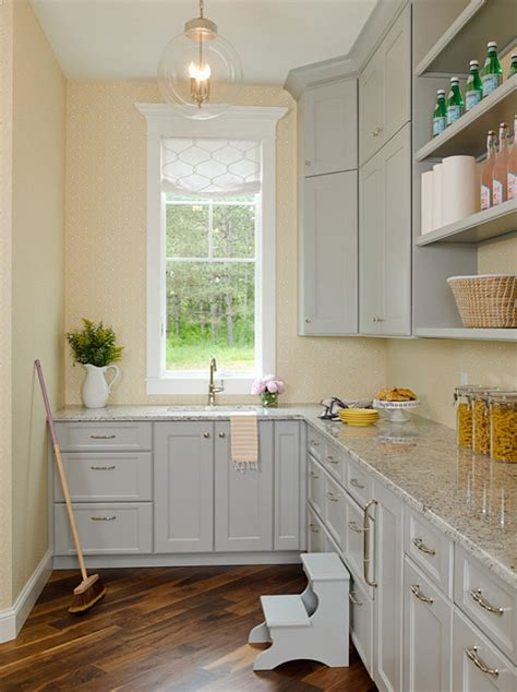 pale yellow walls white cabinets wood counter tops family home interior ideas home bunch interior design ideas