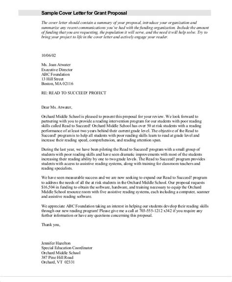 sample grant proposal letter templates ms word
