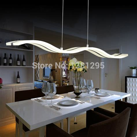 Pendant Light For Dining Table Aliexpress Buy Led Pendant Lights Modern Design Kitchen Acrylic Suspension Hanging Ceiling
