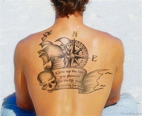 wandlen met arm 60 excellent compass tattoos designs on back