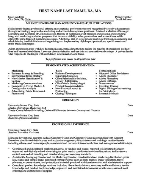 Resume Templates Account Executive Account Executive Assistant Resume Template Premium Resume Sles Exle