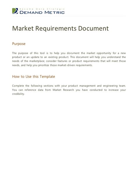 Marketing Requirements Document