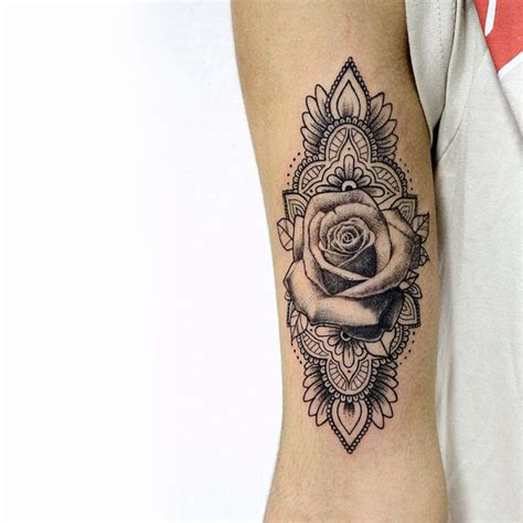 mandala with rose tattoo by sameoldkid on deviantart