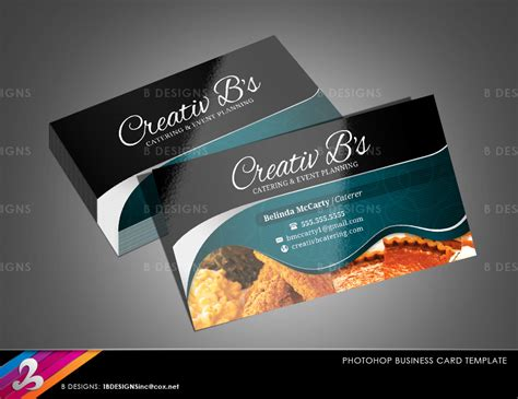 business cards templates for catering chef caterer business card template fully