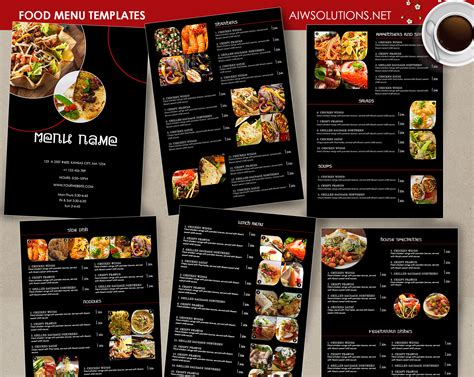 food menu card templates design templates menu templates wedding menu food