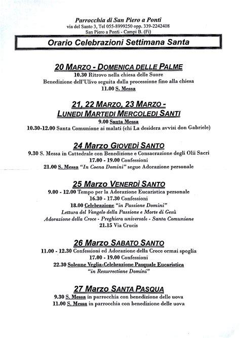 settimana santa 2016 orario celebrazioni orari delle celebrazioni della settimana santa circolo