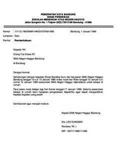 contoh surat dinas resmi yang baik dan benar teori