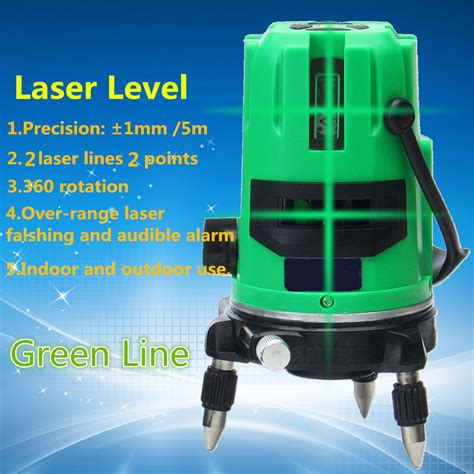 Lomvum Self Leveling Laser 2 Line 2 Points green 2 line 2 points laser level 360 rotary laser line self leveling with tripod alex nld