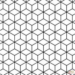 tessellation coloring pages geometric tessellation with rhombus pattern coloring page