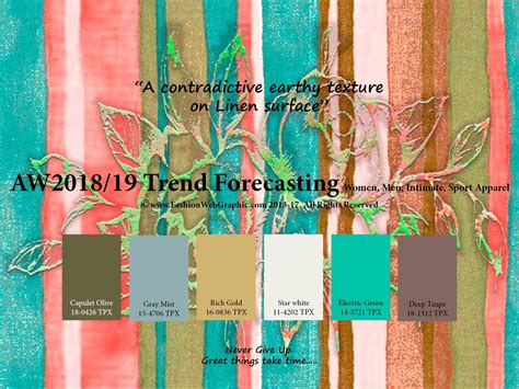 autumn winter 2017 2018 trend forecasting is a trend color autumn winter 2018 2019 trend forecasting is a trend color