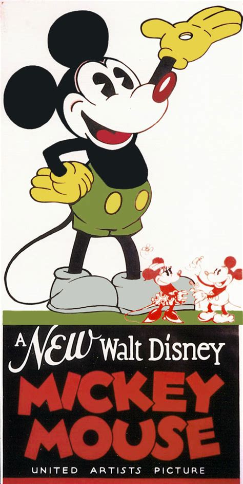 misteri film mickey mouse vintage cartoon movie posters animation art studio