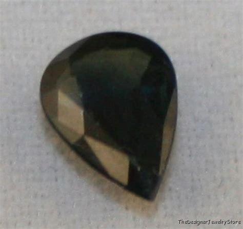 Black Sapphire 5 6ct black sapphire 5x7 pear 0 6ct gem aaa sa50