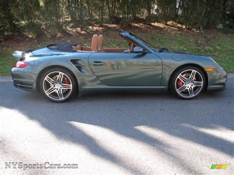 green porsche convertible 2008 porsche 911 turbo cabriolet in malachite green