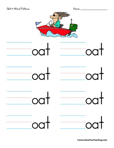 word pattern activities word families worksheet letter o have fun teaching