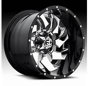 Fuel D240 Cleaver 2 PC Chrome Black Custom Truck Wheels