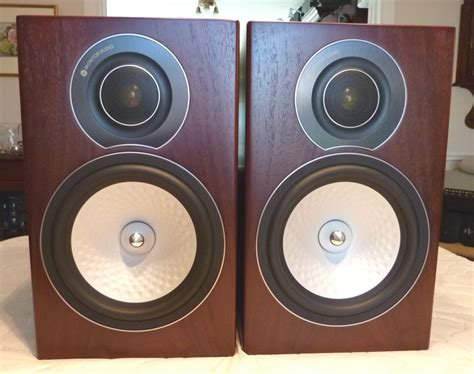 monitor audio rx2 silver series bookshelf speakers in