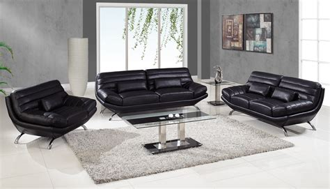 Black Leather Living Room Furniture by Modern Leather Living Room Sets Homeoofficee