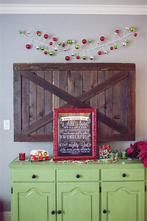 Barn Door Tv Cover Home Tour 2014