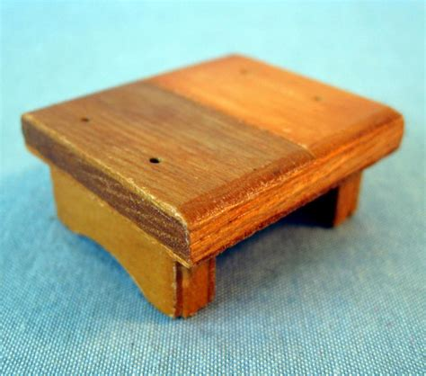 Small Wooden Step Stool by Wooden Dollhouse Step Foot Stool Wood Footstool Stepstool