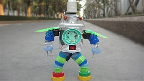 diy plastic bottle robot toy  kids crafts ideas youtube