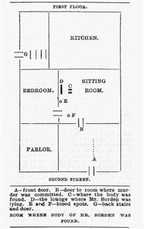 lizzie borden house floor plan crimearchives lizzie borden images
