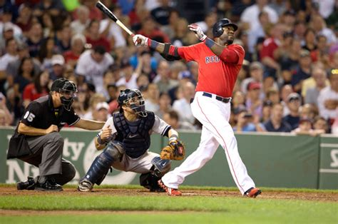 david ortiz swing foul ball tufts now