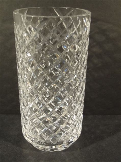 Vintage Waterford Vase Patterns by Vintage Waterford Cut Waffle Pattern 10 Quot Vase No Reserve
