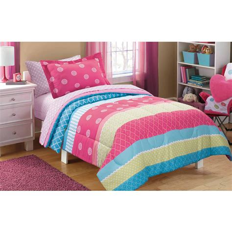 queen size bed comforters girls bed comforters walmart com mainstays kids mix it up