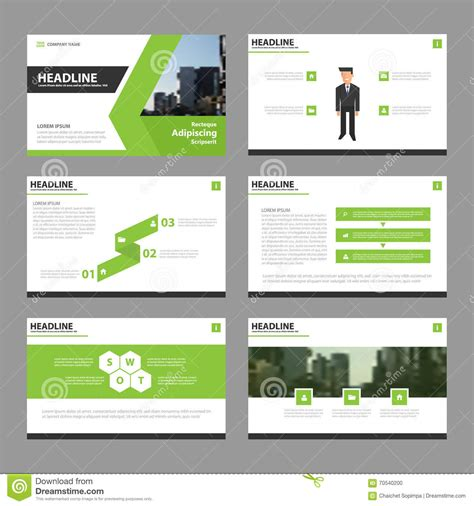 layout make template green vector annual report leaflet brochure flyer template
