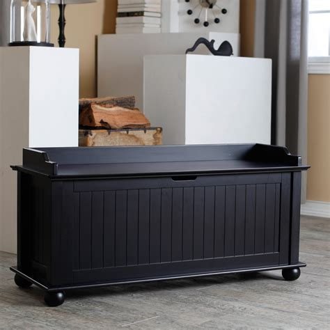 belham living morgan traditional flip top storage bench