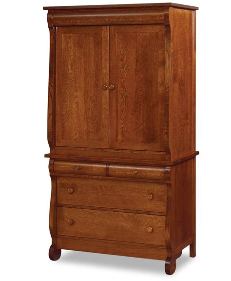 classic armoire old classic sleigh wider armoire 2 piece amish direct