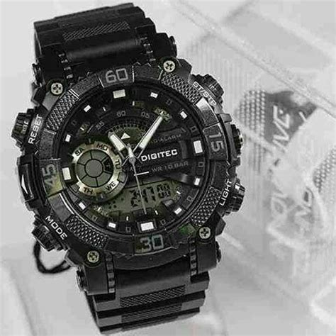 New Jam Tangan Pria Digietc Original Sporty Rubber Black jual new jam tangan sport digitec dg 3033t rubber black original water proof di