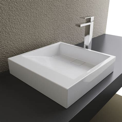 Bathroom Sinks Top Mount by Cantrio Solid Surface Modern Top Mount Bathroom Sink Mma