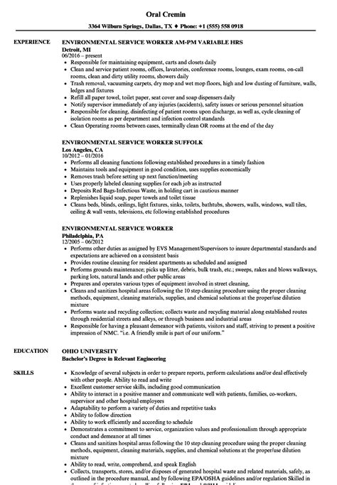 colorful environmental services aide resume sle