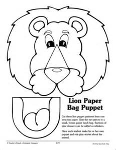 paper puppets templates 9 best images of printable paper bag pattern free