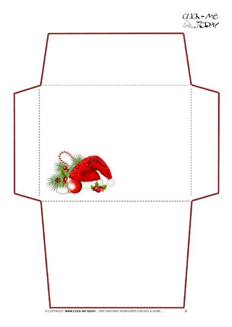 printable letter to santa claus envelope template simple