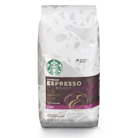 espresso coffee bag starbucks espresso roast whole bean coffee 20 ounce